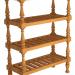 3d model Antique floor rack - preview