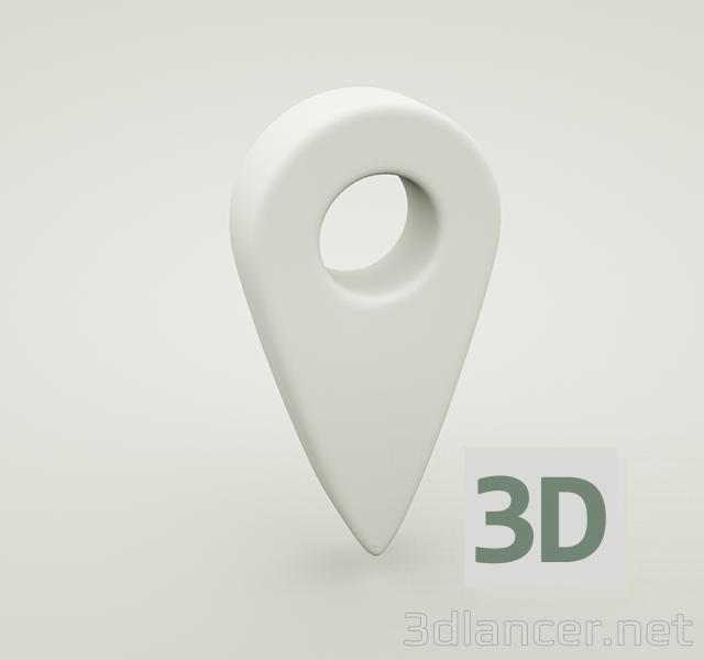 3d Pin Location model buy - render