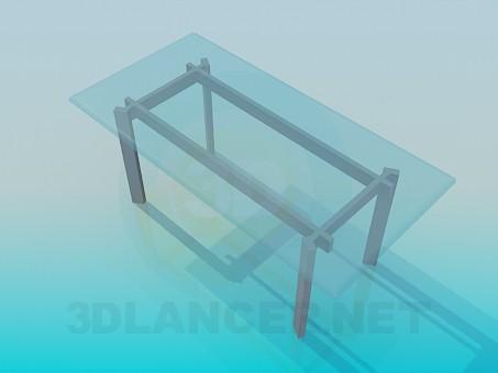 3d моделирование Стеклянный столик модель скачать бесплатно