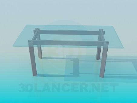 modelo 3D Mesa de centro vidrio - escuchar