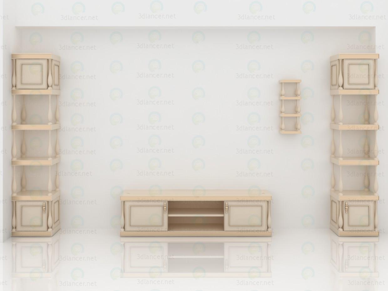 Muebles de salón clásicos pagado modelo 3d por escuchar ukka