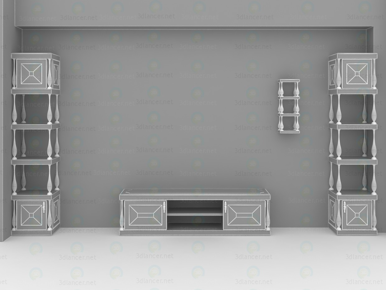 3d Classical living room furniture model buy - render