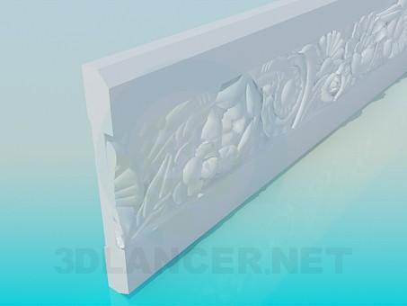 modelo 3D Polietileno alta marcos - escuchar