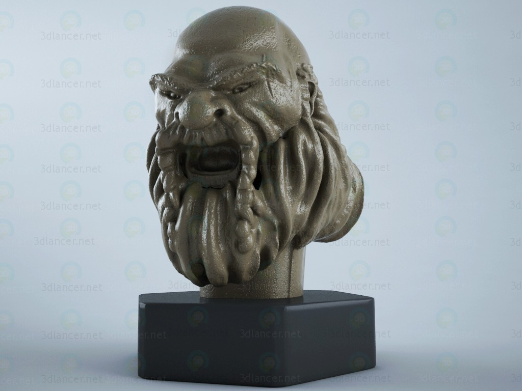 3d модель карликова статуя – превью
