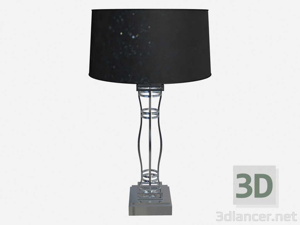 3d model Table lamp Lamp in metal h75 Shiny steel - preview