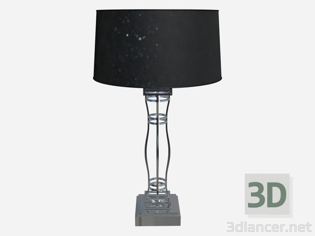 Lampada Scrivania Viola : 3d modella lampada metallo brillante acciaio tavolo in h75 dal