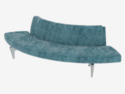 Canapé semi-circulaire sans accoudoirs
