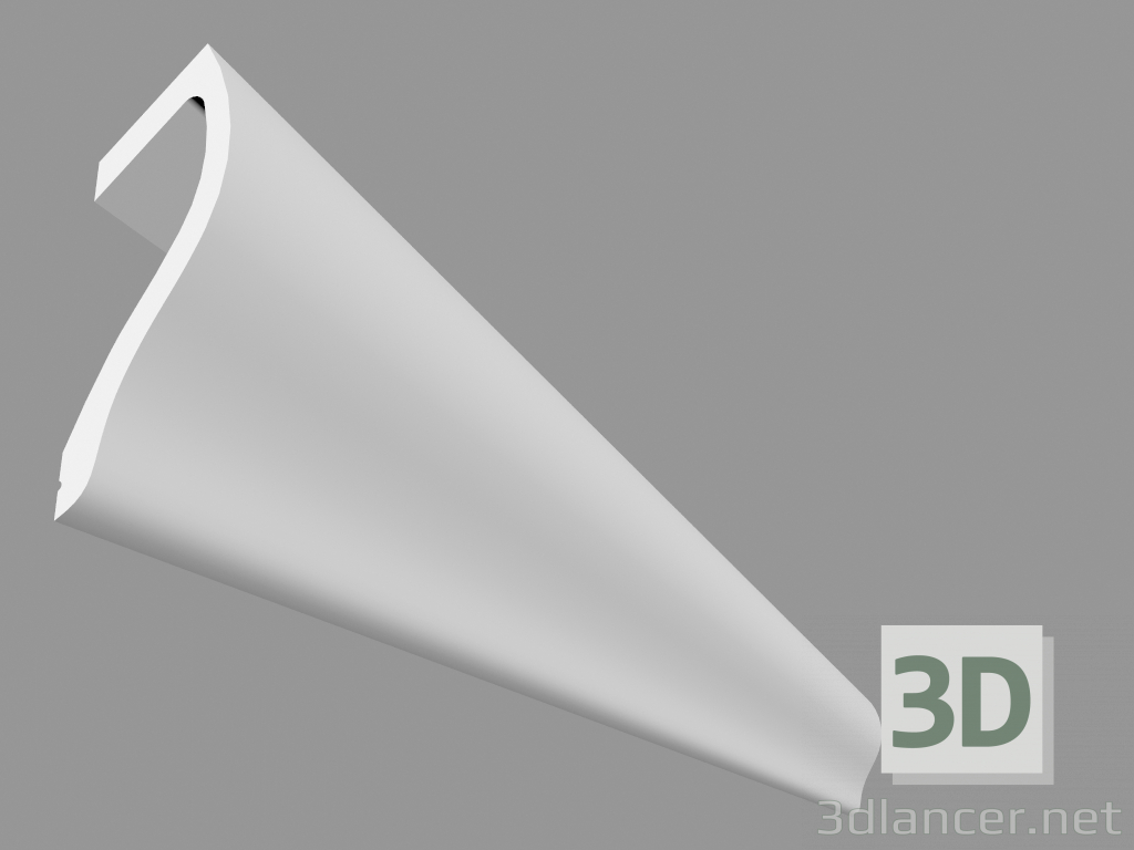3d model Cornice for concealed lighting C371 - Shade (200 x 18 5 x