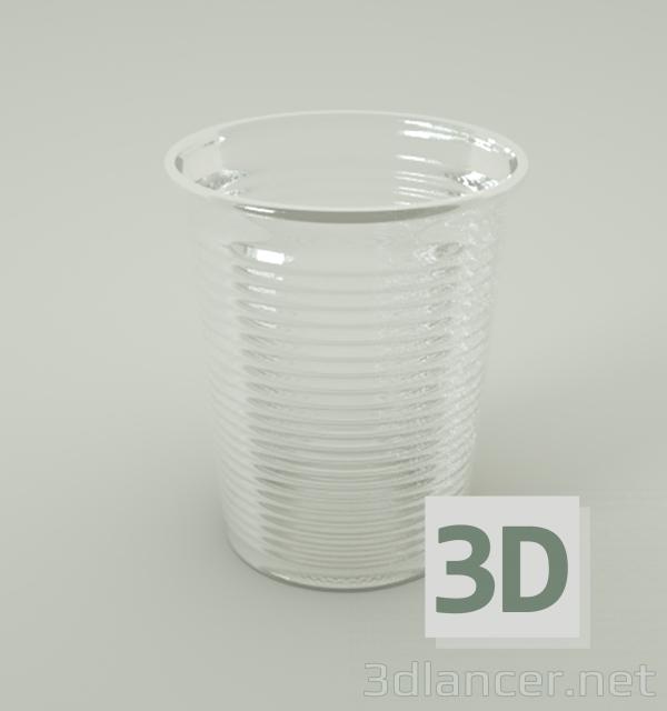 3d Plastic cup model buy - render