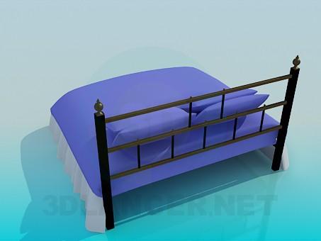 3d модель Ліжко двоспальне – превью