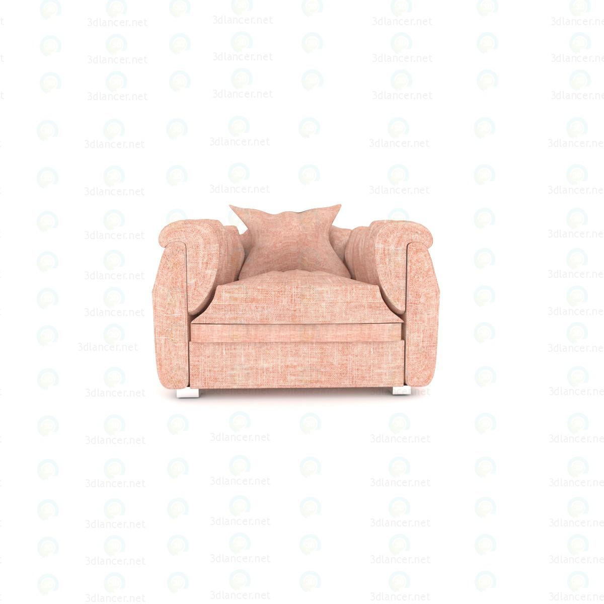 3d Кресло для гостиной модель купить - ракурс