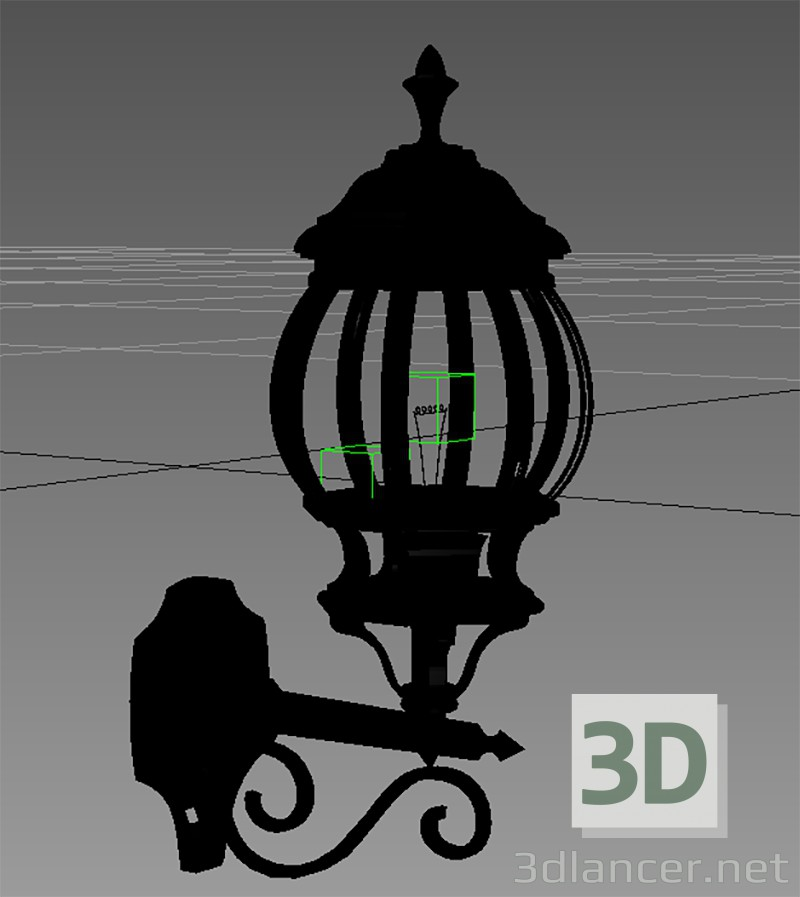 3d modeling Iron lamp model free download
