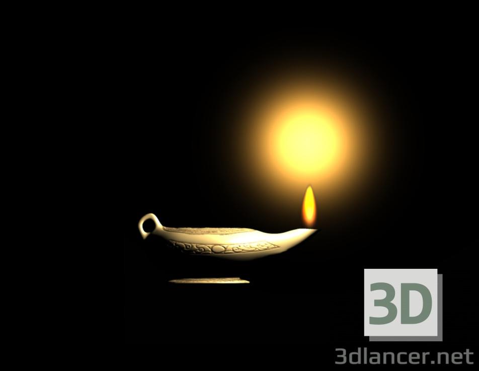 3D modeli Eski Yağ Lambası - önizleme