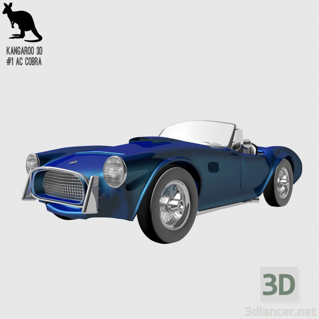 3d AC Cobra 427 model buy - render