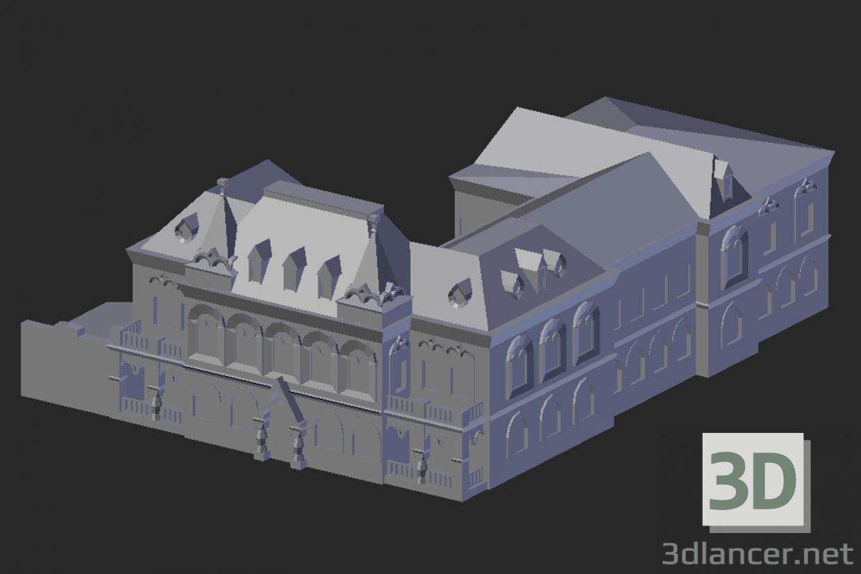 3d Model Kamyshin Local History Museum Blender Classicism