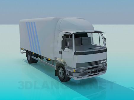 modelo 3D Camión - escuchar