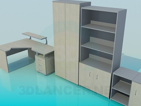 3d model Furniture for your office - preview