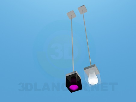 3d model Pendant in black and white - preview