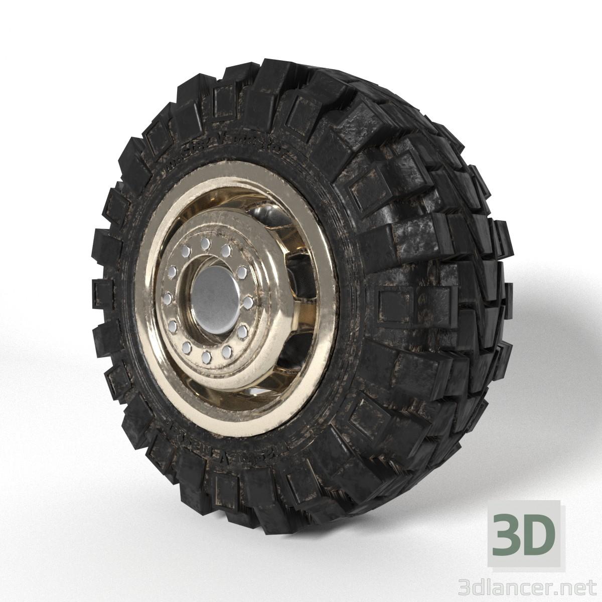 3d modeling Truck wheel model free download