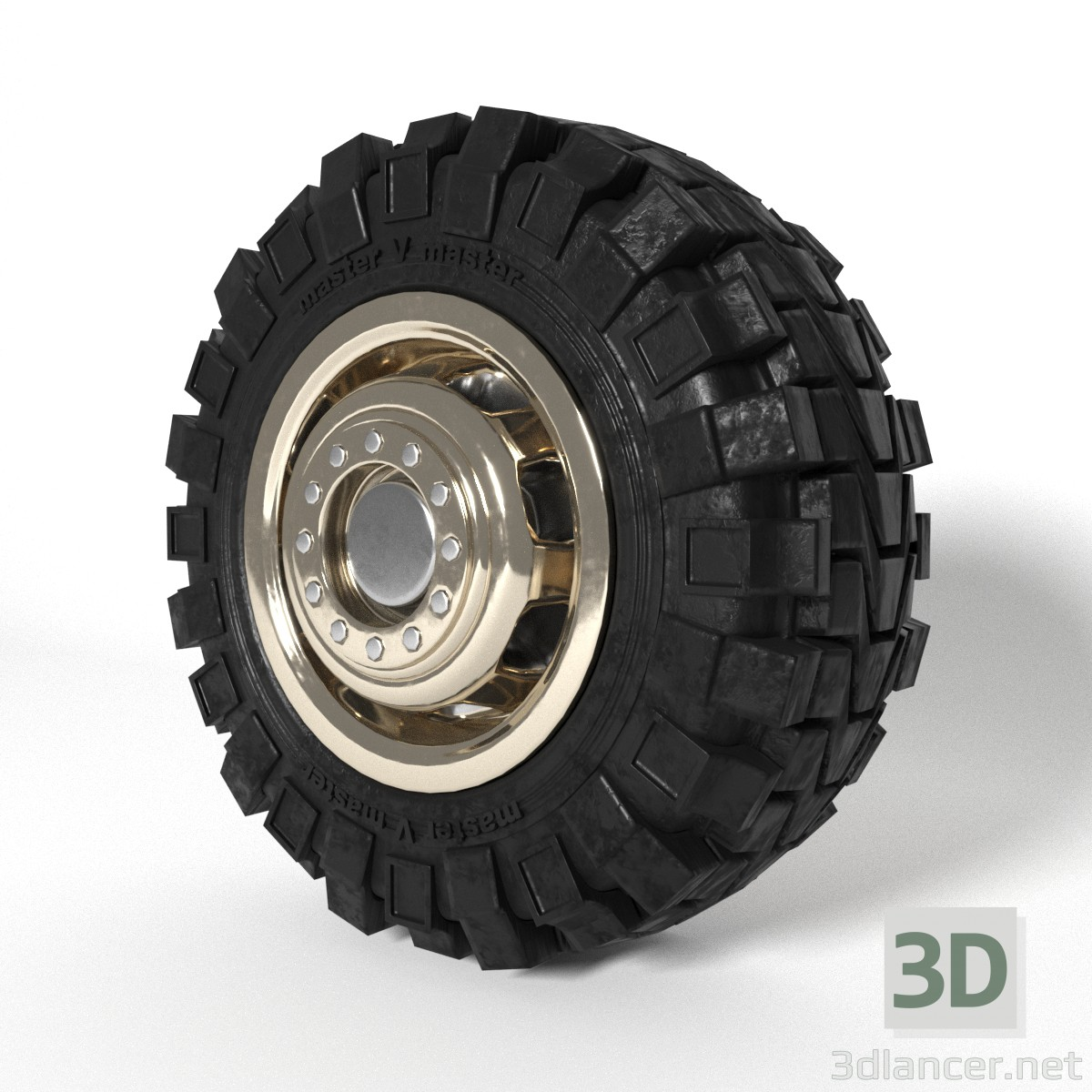3d model Truck wheel - preview