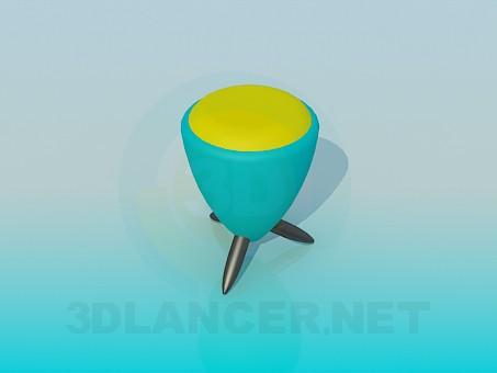 modelo 3D Otomano - escuchar