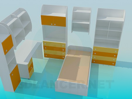 3d model Child bedroom furniture - preview
