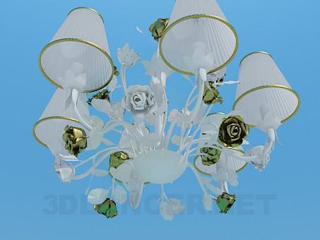 modelo 3D Lámpara romántica con rosas - escuchar
