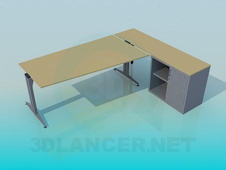 descarga gratuita de 3D modelado modelo Un escritorio con un gabinete
