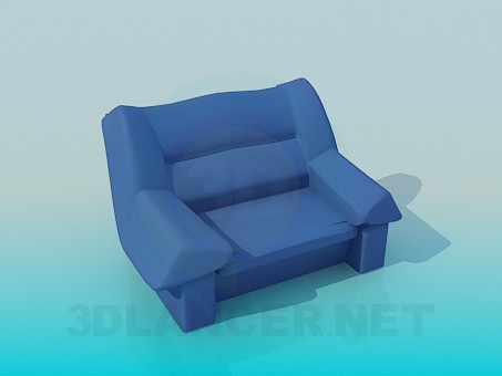 3d model Large and comfortable armchair - preview