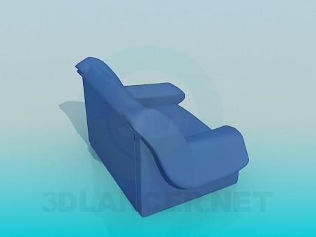 3d модель Велике і зручне крісло – превью