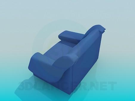 3d модель Большое и удобное кресло – превью