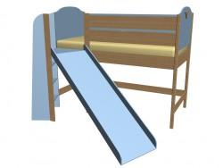 Ліжко ярусне з гіркою 63КВ04