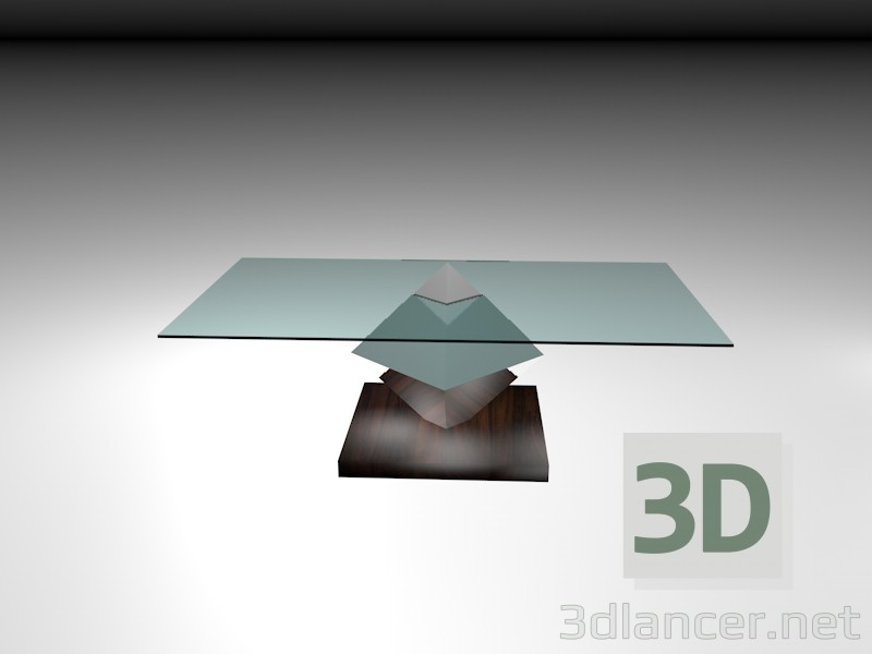 3d model smoking table - preview