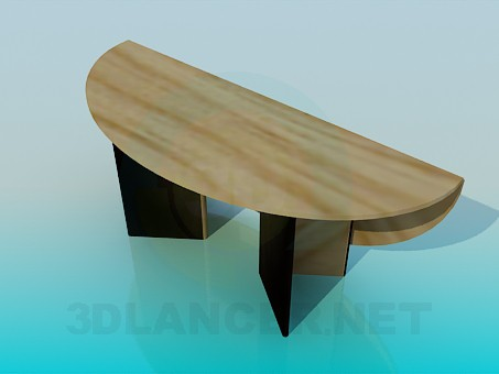 descarga gratuita de 3D modelado modelo Mesa oval plegable