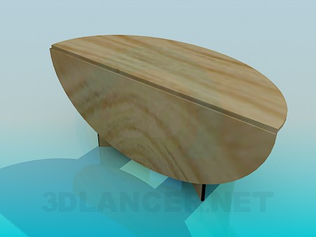 3d model Folding oval table - preview