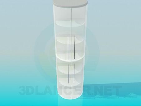 Scarica di Semicircolare libreria con anta a vetro modello gratuito di modellazione 3D