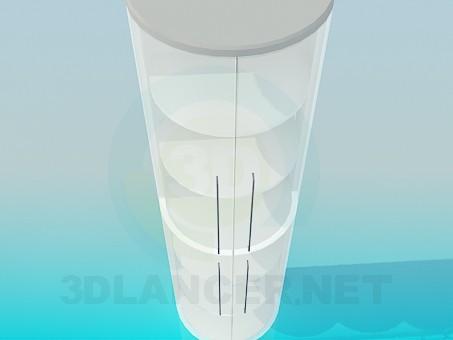 3d модель Полукруглая этажерка со стеклянными дверками – превью