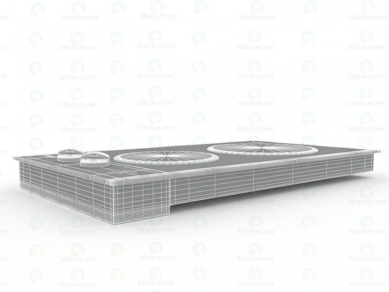 3d Bosch PKC 345 E 2 конфорки модель купить - ракурс