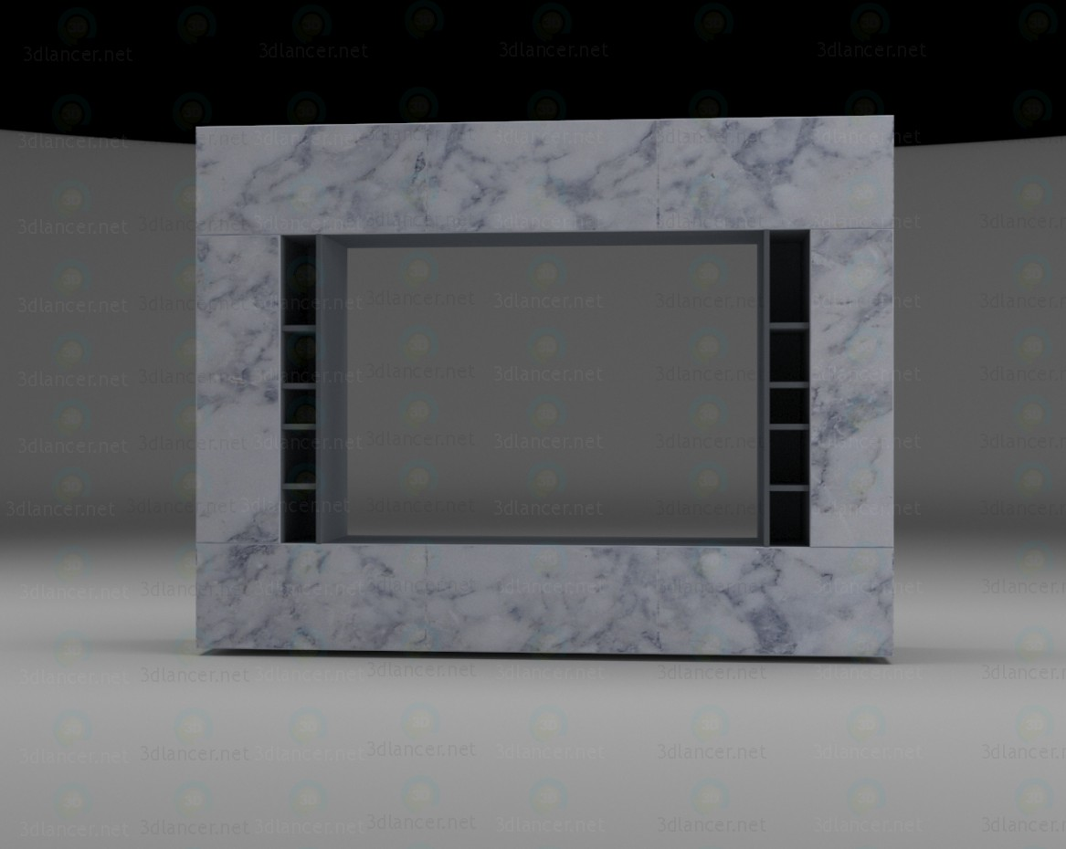3d modeling The wall of the living room model free download