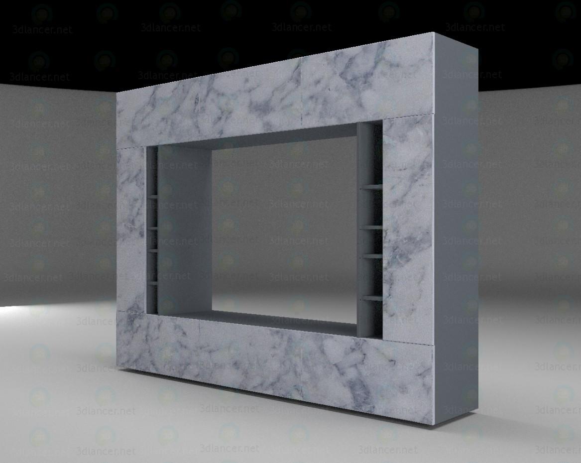 modelo 3D La pared de la sala de estar - escuchar