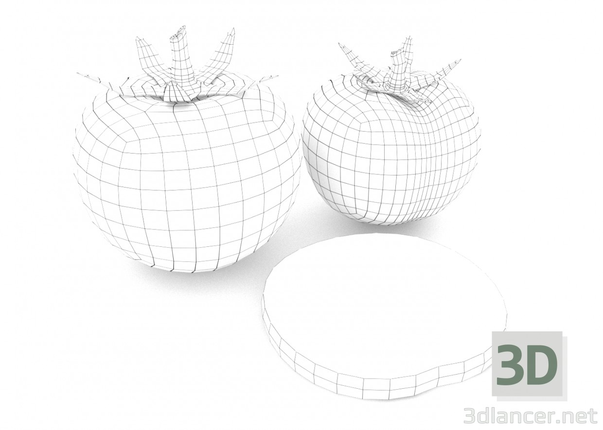 3d model Tomatoes - preview