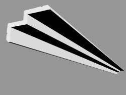 Profile for curtains C390 - Steps (200 x 6 x 10 cm)