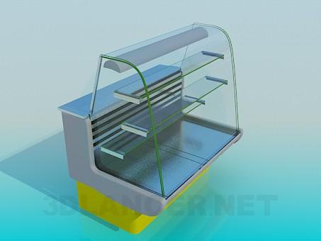 3d моделирование Витрина-холодильник модель скачать бесплатно