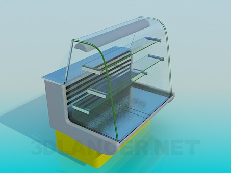 Modelo 3d Geladeira vitrine - preview