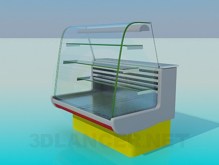 modelo 3D Nevera vitrina - escuchar