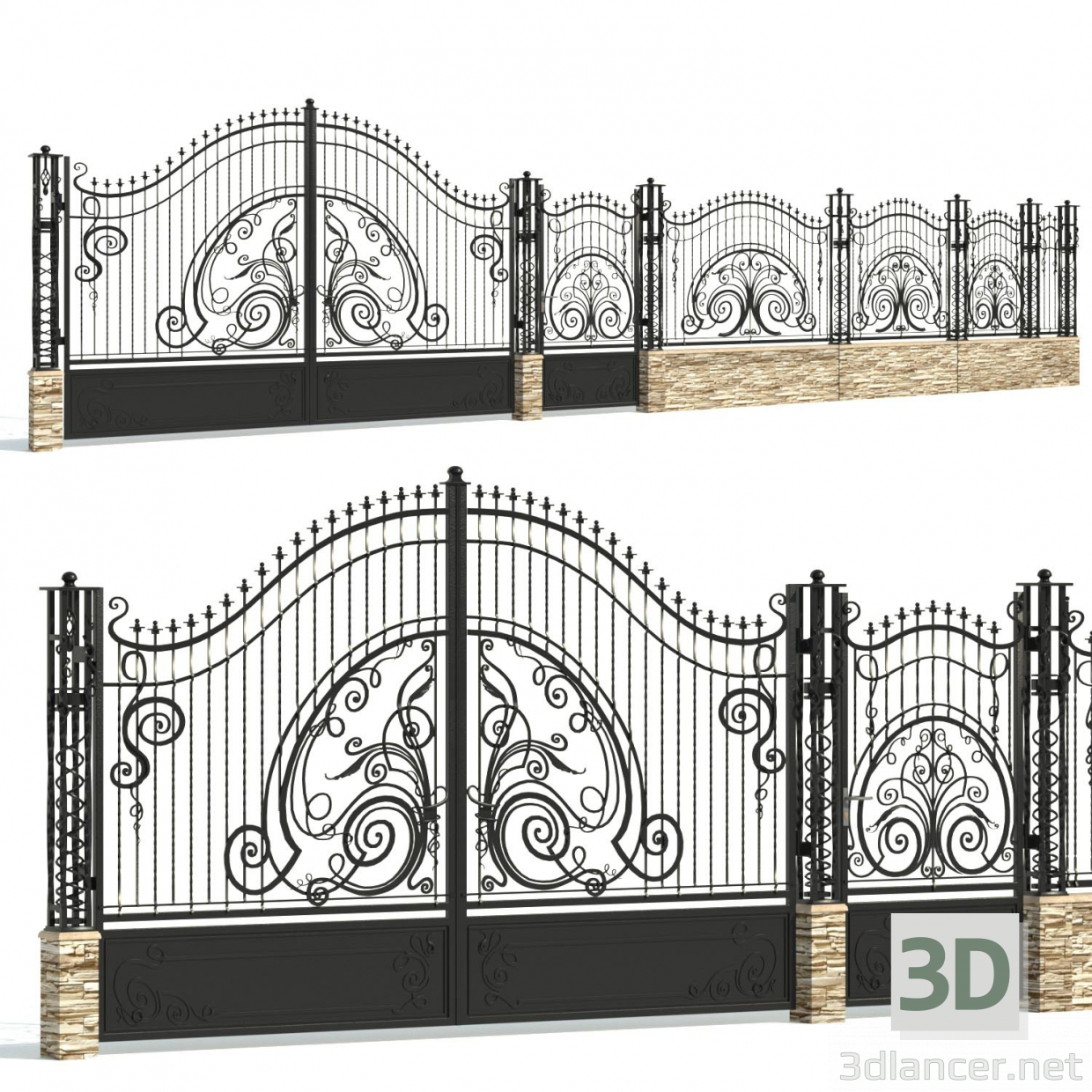 3d Forged fence PREVIEWNUM#