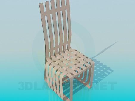 3d моделирование Плетеный стул модель скачать бесплатно