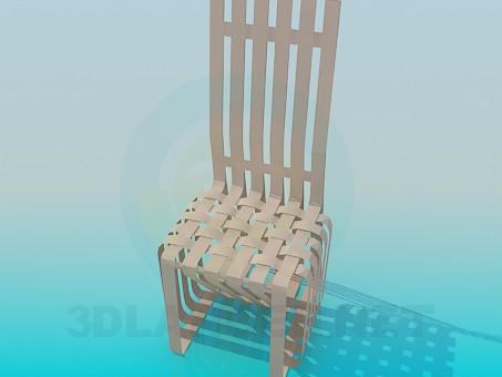 3d модель Плетений стілець – превью