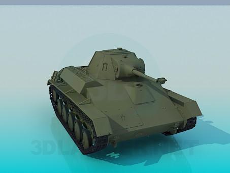 3d моделирование Советский легкий танк Т-70 модель скачать бесплатно