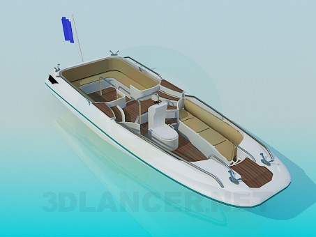 3d modeling Motorboat model free download